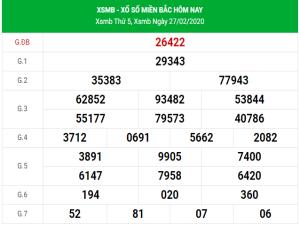 Dự đoán soi cầu kết quả XSMB hôm nay ngày 28/2/2020