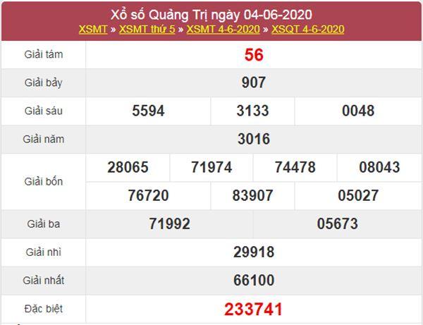 Dự đoán XSQT 11/6/2020 chốt KQXS Quảng Trị thứ 5