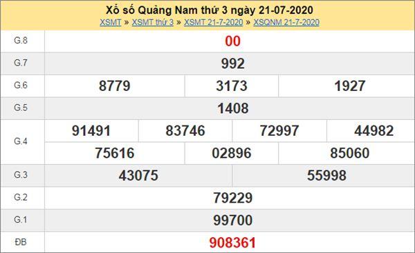 Dự đoán XSQNM 28/7/2020 chốt lô KQXS Quảng Nam thứ 3