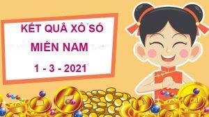 Dự đoán SX Miền Nam thứ 2 ngày 1/3/2021
