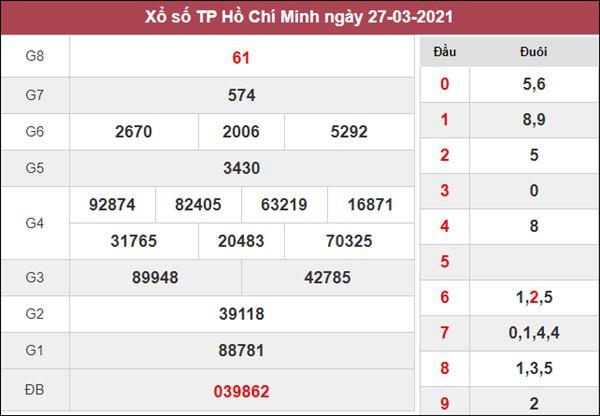 Dự đoán XSHCM 29/3/2021 chốt lô VIP Hồ Chí Minh thứ 2