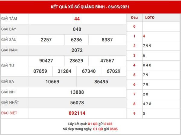 Dự đoán kết quả sổ xố Quảng Bình thứ 5 ngày 13/5/2021