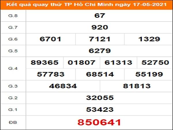 Quay thử kết quả xổ số Hồ Chí Minh ngày 17/5/2021